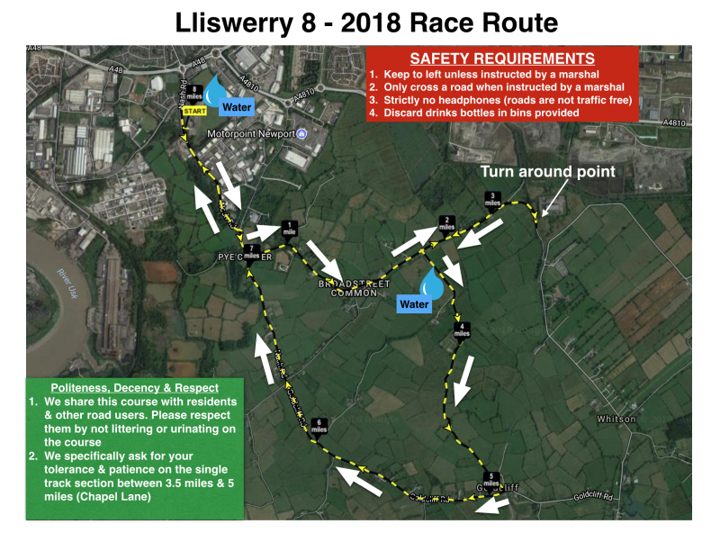 Lliswerry 8 - 2018 Course